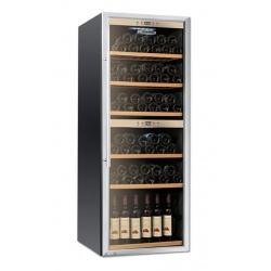 Vitrina de vinuri Tecfrigo Sommelier 301, 129 sticle, 1 zona temperatura, negru / inox