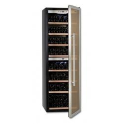 Vitrina de vinuri Tecfrigo Sommelier 481, 192 sticle, 1 zona temperatura, negru / inox