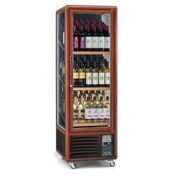 Vitrina de vinuri verticala Tecfrigo Enotec 340(1TV), 90 sticle, 1 zona temperatura, lemn maro