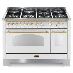 Aragaz Lofra Dolcevita RBPD126MFT+E/2AEO, 120x60cm, gaz, 7 arzatoare, grill, rotisor, timer, cuptor dublu, alb