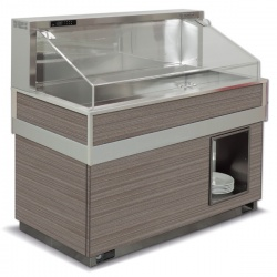 Vitrina frigorifica rece FUTURA BAHIA 6, temperatura -2/0C, lemn pin