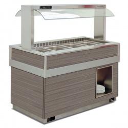 Vitrina frigorifica calda FUTURA 6 DRY, temperatura + 30 / + 70C, lemn pin
