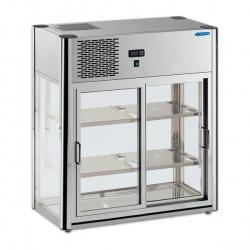 Vitrina frigorifica Tecfrigo LINUS 100, capacitate 100 l, temperatura +4/+10º C, argintiu