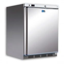 Mini frigider minibar Tecfrigo PL 201 PTSX, capacitate 129 L, temperatura -2/+8º C, inox