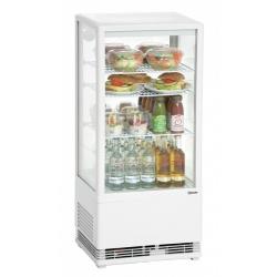 Mini vitrina frigorifica Bartscher 78 l, alba