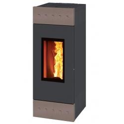 Sobă Caminetti Montegrappa TILE EVO NP10 cu pelete cu aer cald ventilat de 10 kw